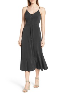 MICHAEL Michael Kors Lace-Up Midi Slipdress (Regular & Petite)