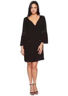MICHAEL Michael Kors Lace-Up Sleeve Dress