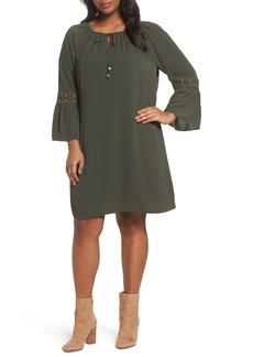 MICHAEL Michael Kors Lace-Up Sleeve Dress (Plus Size)