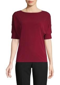 MICHAEL Michael Kors Lace-Up Sleeve Top