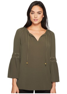 MICHAEL Michael Kors Lace-Up Sleeve Top