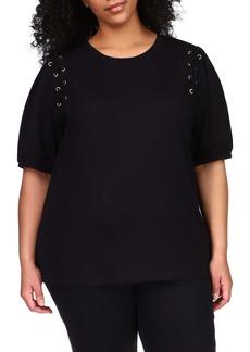 MICHAEL Michael Kors Lace-Up T-Shirt (Plus Size)