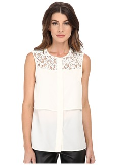 MICHAEL Michael Kors Lace Yoke Blouse