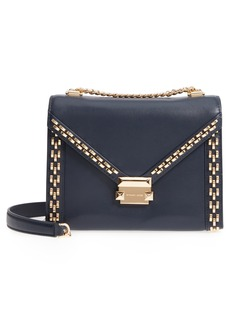 MICHAEL Michael Kors Large Embellished Leather Shoulder Bag