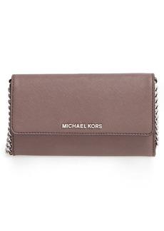 MICHAEL Michael Kors 'Large Jet Set' Saffiano Leather Crossbody Bag