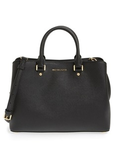 MICHAEL Michael Kors 'Large Savannah' Leather Satchel