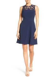 MICHAEL Michael Kors Laser Cut A-Line Dress (Regular & Petite)