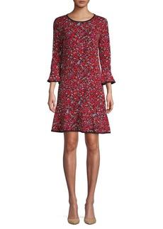 MICHAEL Michael Kors Leaf-Print A-Line Dress