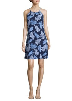 MICHAEL MICHAEL KORS Leaf Print Halter Dress