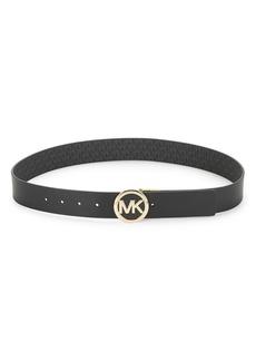 MICHAEL MICHAEL KORS Leather Logo Buckle Belt