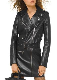 MICHAEL Michael Kors Leather Moto Dress