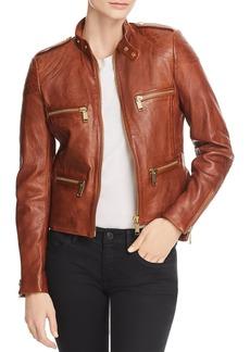 MICHAEL Michael Kors Leather Moto Jacket