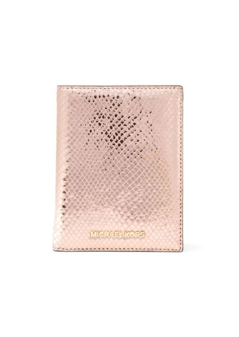e6852ff3334f SALE! MICHAEL Michael Kors MICHAEL MICHAEL KORS Leather Passport Holder