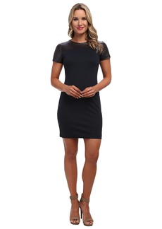 MICHAEL Michael Kors Leather Yoke Dress