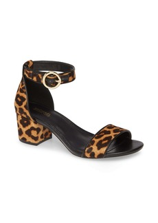 MICHAEL Michael Kors Lena Block Heel Genuine Calf Hair Sandal (Women)