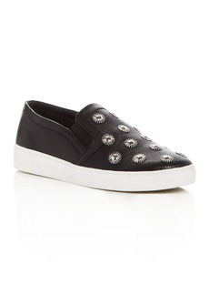 MICHAEL Michael Kors Leo Embellished Slip On Sneakers