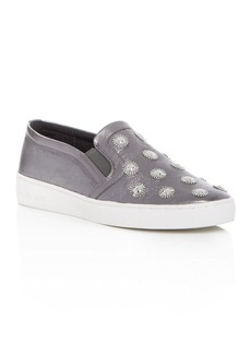 MICHAEL Michael Kors Leo Metallic Embellished Slip On Sneakers