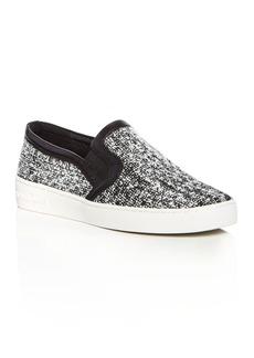 MICHAEL Michael Kors Leo Tweed Slip On Sneakers