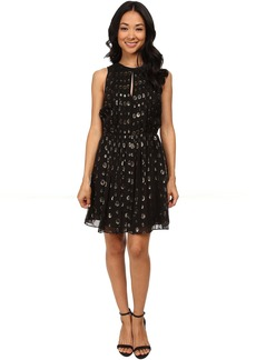 MICHAEL Michael Kors Leones Spot Jacquard Dress