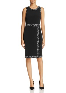 MICHAEL Michael Kors Leopard Border Faux-Wrap Dress