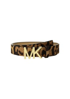 MICHAEL Michael Kors Leopard Haircalf Logo Belt