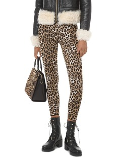 MICHAEL Michael Kors Leopard Jacquard Stretch Leggings