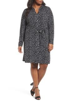 MICHAEL Michael Kors Leopard Plaid Shirtdress (Plus Size)