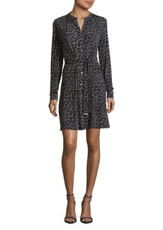 MICHAEL Michael Kors Leopard Print Button Down Dress