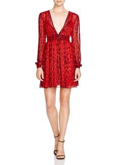 MICHAEL Michael Kors Leopard Print Chiffon Dress