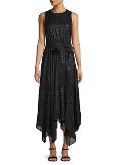 MICHAEL Michael Kors Leopard-Print Handkerchief Hem Dress