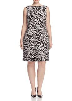 MICHAEL Michael Kors Leopard Print Sheath Dress