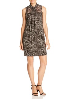 MICHAEL Michael Kors Leopard Print Tie Neck Dress - 100% Bloomingdale's Exclusive