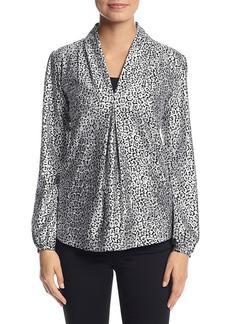 MICHAEL Michael Kors® Leopard Print V-Neck Blouse