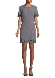 MICHAEL Michael Kors Leopard Printed Border Dress