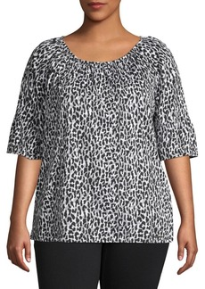 MICHAEL Michael Kors Plus Leopard Printed Top