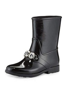 MICHAEL Michael Kors Leslie Jeweled Short Rain Boot