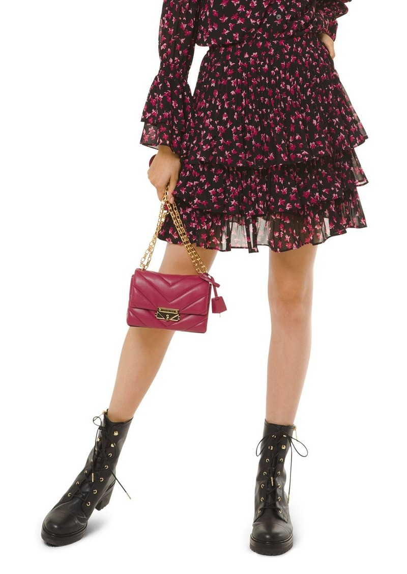 MICHAEL Michael Kors Lilies Tiered Floral Skirt