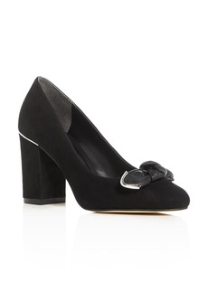 MICHAEL Michael Kors Liza Bow Block Heel Pumps