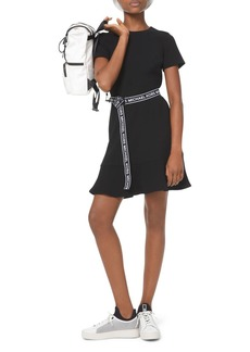 MICHAEL Michael Kors Logo-Belt A-Line Mini Dress