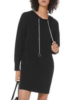 MICHAEL Michael Kors Logo Chain Cotton Stretch Hoodie Dress