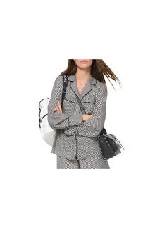 MICHAEL Michael Kors Logo Checkerboard Pajama-Style Silk Top