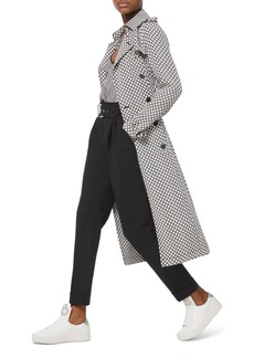 MICHAEL Michael Kors Logo Checkerboard Trench Coat