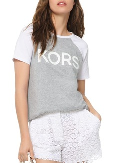 MICHAEL Michael Kors Logo Cotton Baseball Tee