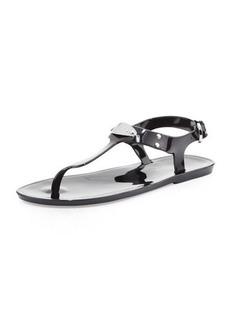 MICHAEL Michael Kors MK Plate Jelly Flat Thong Sandal