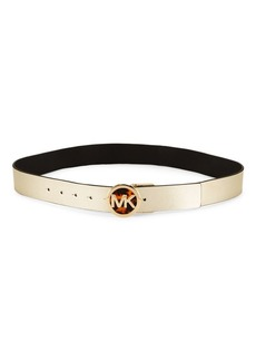 MICHAEL Michael Kors Logo Leather Belt