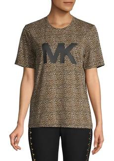 MICHAEL Michael Kors Logo Leopard-Print T-Shirt