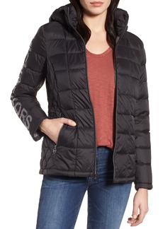 MICHAEL Michael Kors Logo Packable Down Jacket with Detachable Hood