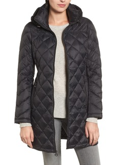 MICHAEL Michael Kors Logo Packable Puffer Coat with Detachable Hood (Regular & Petite)