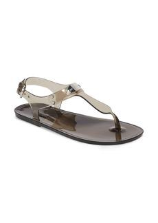 MICHAEL Michael Kors Logo Plate Clear Sandal (Women)