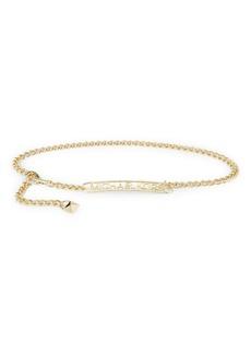 MICHAEL Michael Kors Logo Plate Goldtone Chain Belt